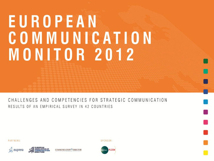 Survey: European Communication Monitor 2012