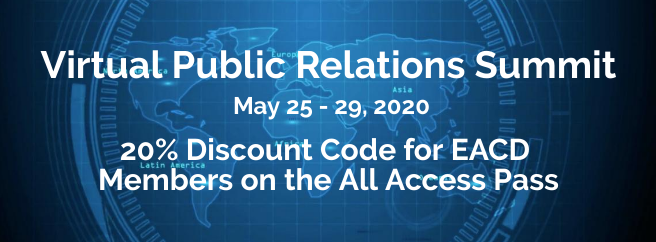 Virtual PR Summit – 20% discount for EACD members on the All-Access Pass