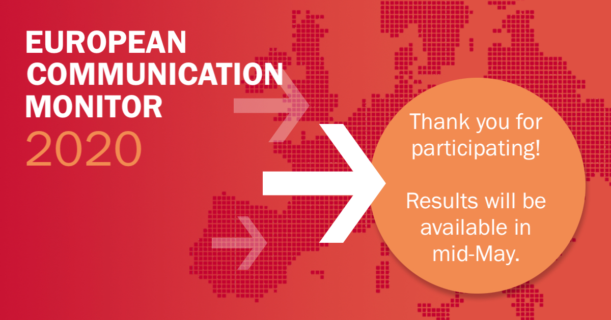 European Communication Monitor – Launch of 2020 survey findings